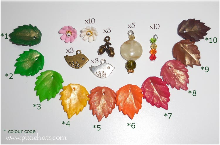 What you need to make this autumn leaf bracelet