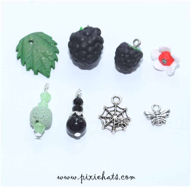 Blackberry beads and charms