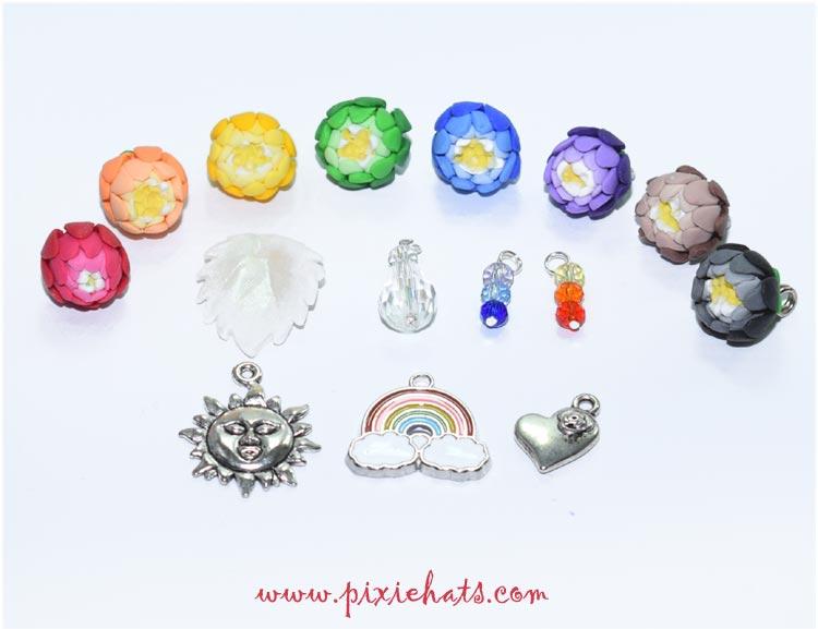 Making a rainbow charm bracelet