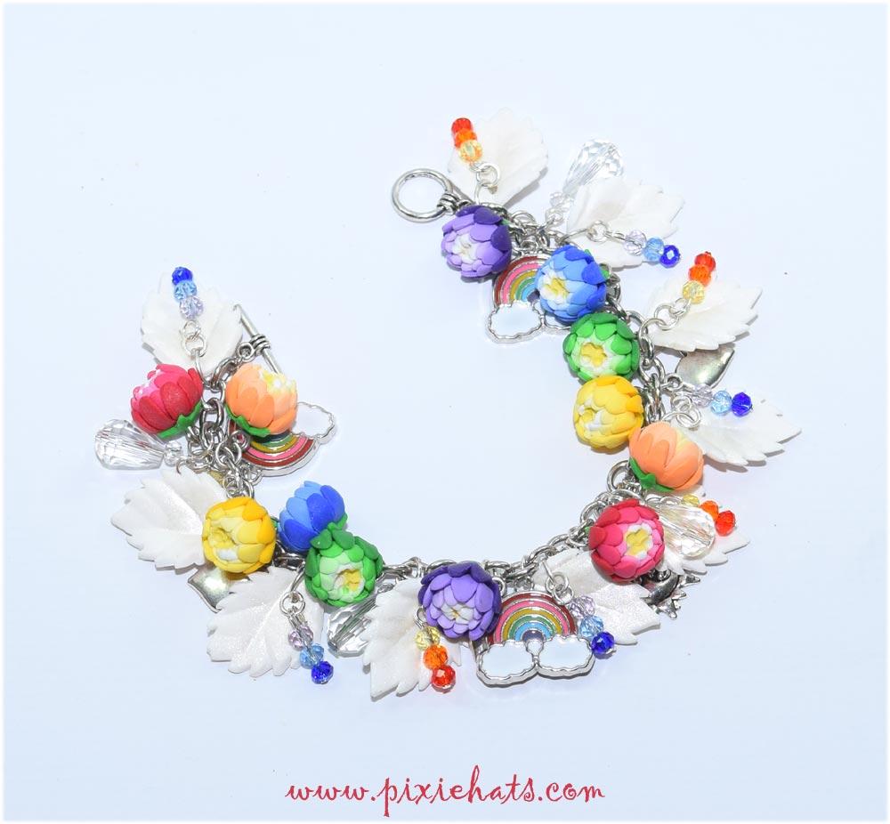 Rainbow pride jewellery bracelet