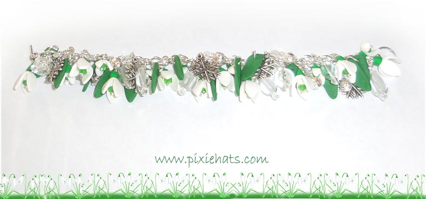 Snowdrop flower bracelet - making your own jewelley pieces