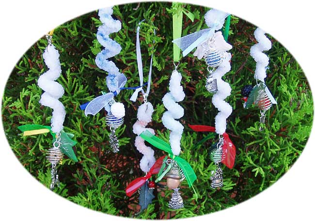 Growing borax crystals and making yule tree decorations