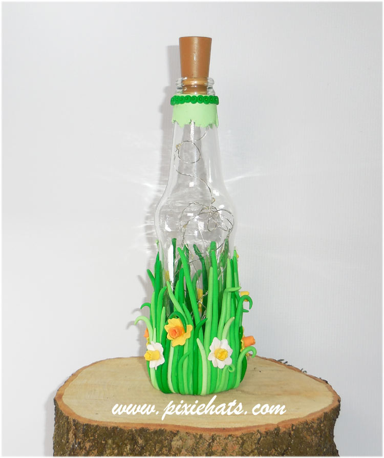 Make your own recycled glass bottle lights