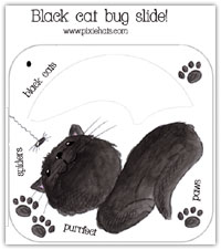 Black cat bug slide printable