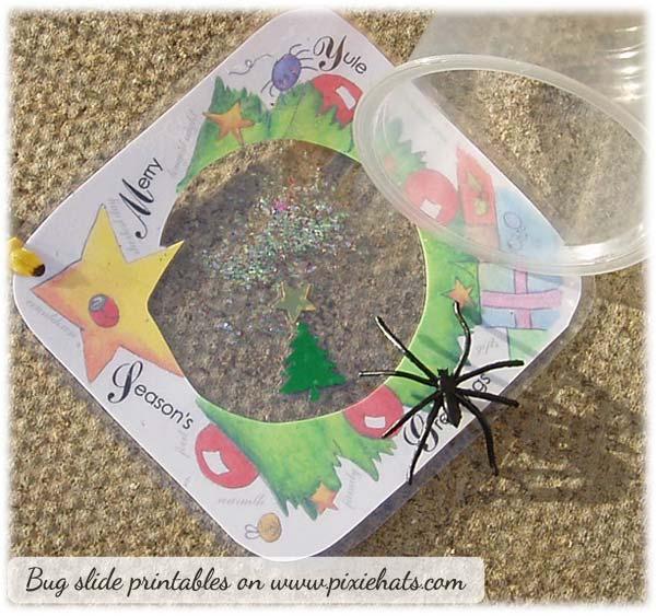 Yuletide tree themed bug slide and pot