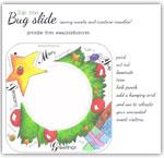 Yule tree themed bug slide printable