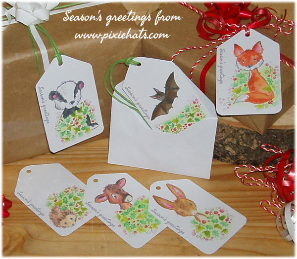 British wildlife animal gift label tags