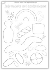 Jelly candy sweets outline colouring picture