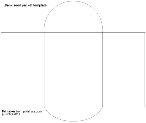 graphic relating to Printable Seed Packets referred to as Blank seed packet determine template