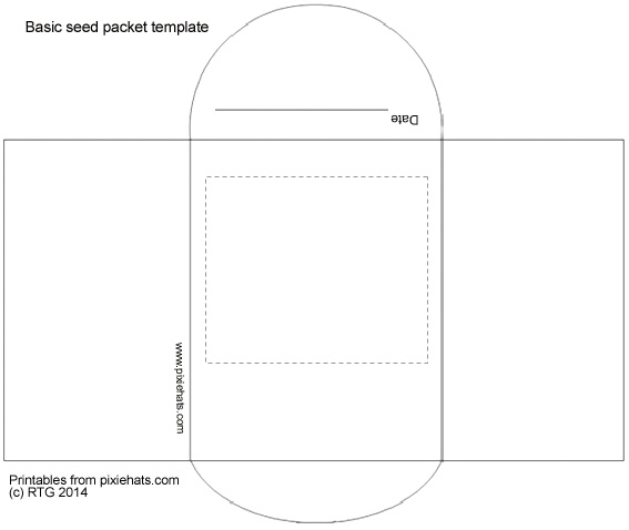 Basic seed packet outline template to print and fold
