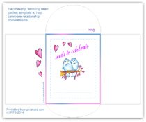 Click to see this handfasting wedding seed packet template