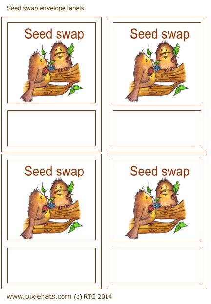 illustrated seed swap envelope labels
