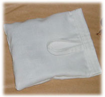 Hook and loop sealed soap nut washing bag