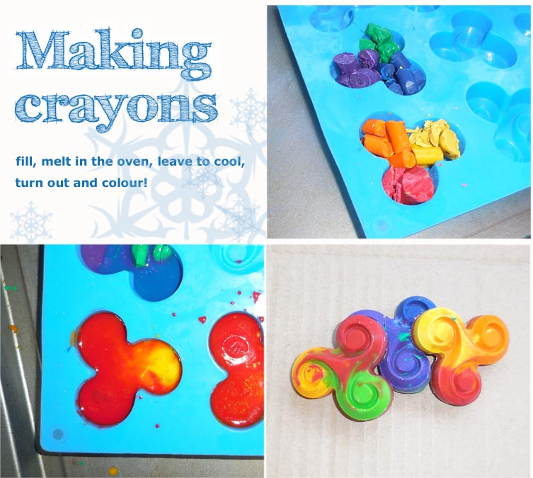 Handmade crayons for the spiral loving little ones in your life