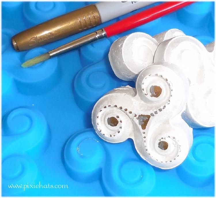Triskele plaster cast models