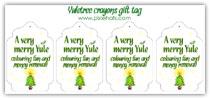 Yule tree crayon gift tag