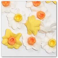 but daffodil cabochon flat backs here on pixiehats.com