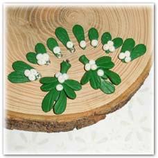 Mistletoe beads