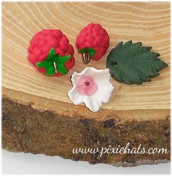 Raspberry bead charm set