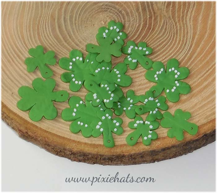 Shamrock leaf charms or clover beads